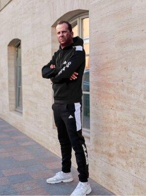 Тёплый спортивный костюм Adidas черный мужской