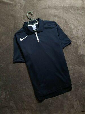 Nike мужское чёрное поло футболка