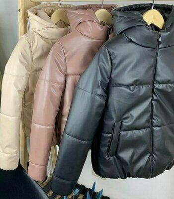 Продано: Куртка эко кожа , весна на легком утеплителе