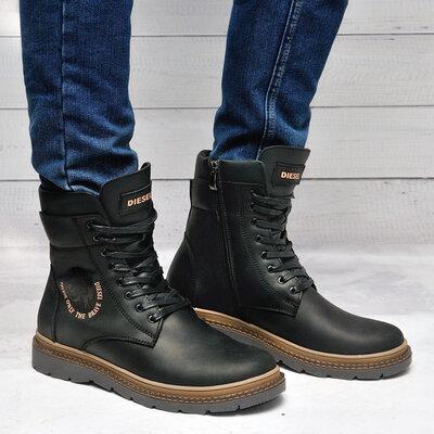 Diesel Кожанные зимние ботинки