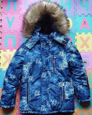 Детская зимняя термо куртка -парка , рост 86- 152 см, цвета разные