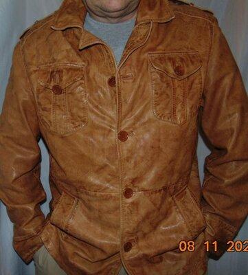Кожаная стильная нарядная брендовая курточка Германия Gipsy.л-хл