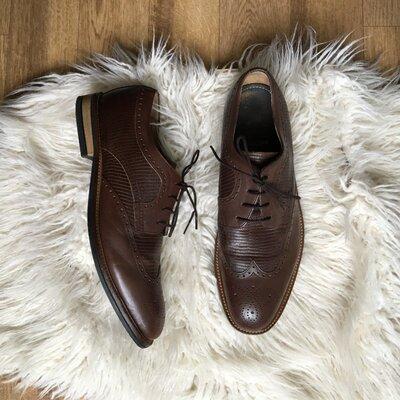 Продано: Натур. кожаные туфли броги оксфорды