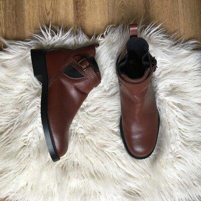 Новые Натур. кожаные сапоги ботинки челси