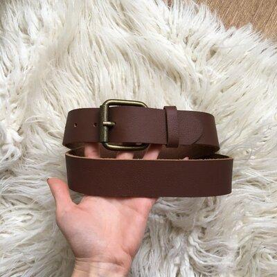 Натур. кожаный крутой ремень 85-95 см