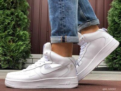 Nike Air Force кроссовки зимние мужские белые 10028