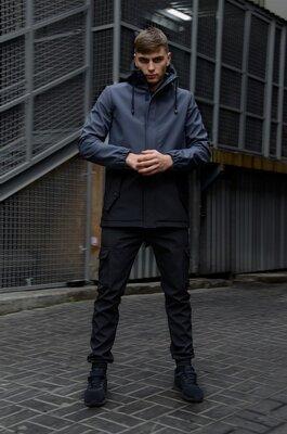 Куртка softshell Intruder Citizen серо-черная