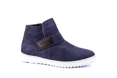 Мужские зимние ботинки нубук синие на меху. Последний 42 размер.