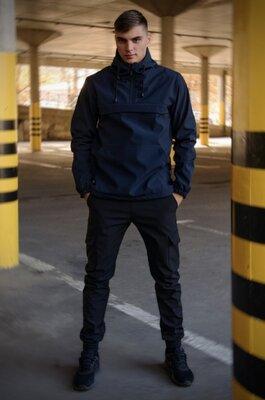Комплект анорак softshell Walkman синий штаны softshell черные