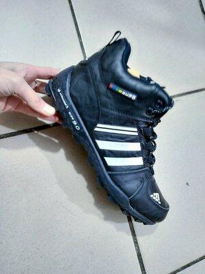 Ботинки мужские серые черные синий серый зимние зима на меху подростковые кроссовки кеды кросы