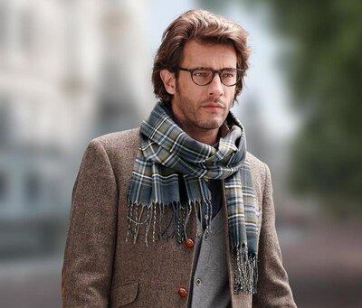 Мужской оригинальный, теплый шарф, от tchibo