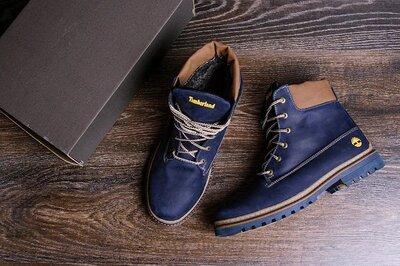 Мужские зимние кожаные ботинки Timderland Crazy Shoes Laguna