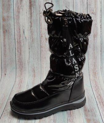 Продано: Детские подростковые дутики зимние сапоги для девочки alaska 32р-37р х1 черные