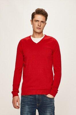 Яркий пуловер красного цвета s. oliver made in indonesia, оригинал, молниеносная отправка