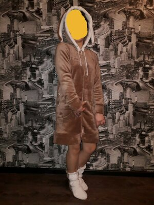 Продано: Женский махровый халат с ушками .