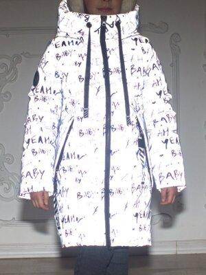 Продано: Куртка-Пальто зимняя светоотражающая на термоподкладке для девочек от 116 до 152 р-тренд зимы