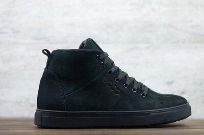 Продано: Мужские кожаные зимние кеды ботинки Ecco