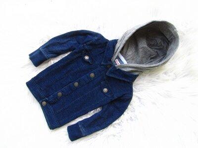 Качественная джинсовая рубашка реглан кофта жакет c капюшоном Bluezoo Debenhams