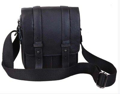 Удобная сумка кожаная черная