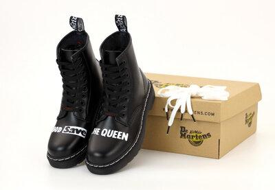 Демисезонные мужские ботинки Dr.Martens кожа, мех. Sex Pistols & Dr. Mart ns God Save the Queen