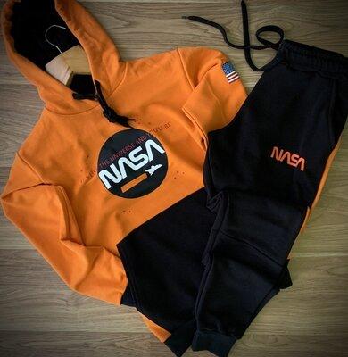 Премиум спортивные мужские костюмы трехнитка NASA на весну лето осень Качество премиум