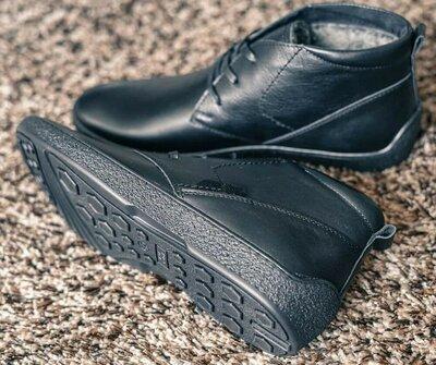 Шикарные качественные кожаные зимние ботинки черевички счоботы на меху сапоги