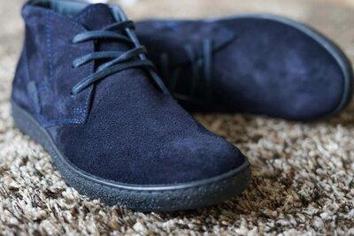 Зимние мужские фирменные замшевые брендовые стильные модные красивые ботинки зимние теплые на меху