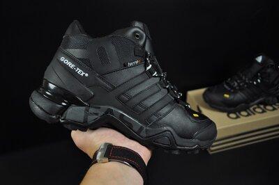 Зимние мужские кроссовки Adidas Terrex 465 black, мех