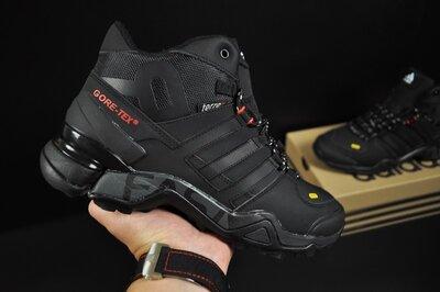 Зимние мужские кроссовки Adidas Terrex 465 black, мех, 41-46р