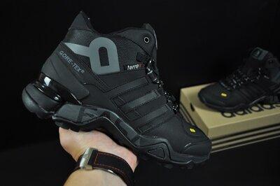 Зимние мужские ботинки Adidas Terrex 465 black, мех, 41-46р