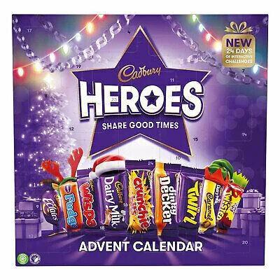 Адвент календарь Cadbury Heroes Advent Calendar 230 g