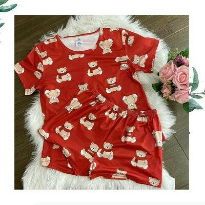 Шелковая пижама с мишками