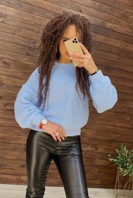 Свитер оверсайз, 11 цветов, обьемные рукава , свитер зима, свитер женский арт 197