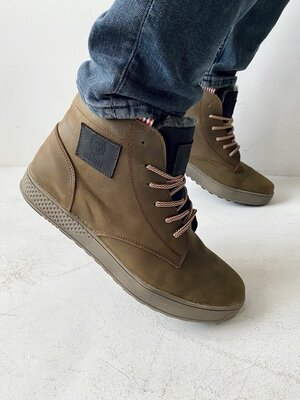 Мужские зимние ботинки, кожаные зимние мужские ботинки