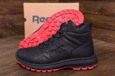 Мужские зимние кожаные кроссовки Reebok Black leather