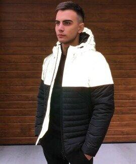 Мужская зимняя куртка Pro Max рефлектив-черная