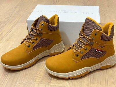 Продано: Ботинки мужские из нубука зимние рыжие Р-2055