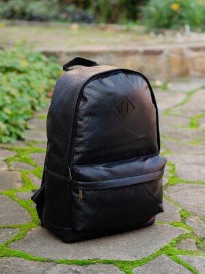 Продано: Рюкзак городской спортивный мужской женский унисекс для школы черный эко кожа