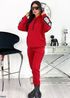 Модный теплый спортивный костюм