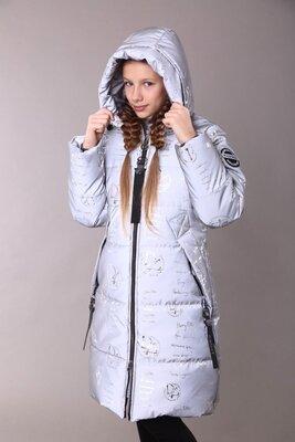 Продано: Куртка-Пальто зимнее светоотражающее на термоподкладке для девочек от 140 до 158-тренд зимы