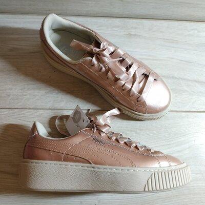 Кожаные, стильные женские кроссовки от puma 37 -37.5 р - новые- оригинал