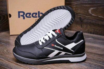 Мужские зимние кожаные кроссовки Anser Reebok Black