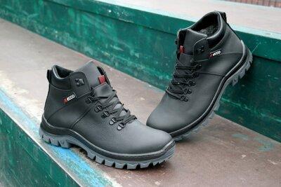 мужские кожаные ботинки зимние большие размеры великанчоловічі шкіряні черевики зимові великі розмір