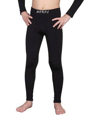 Детские термо кальсоны подштанники штаны чёрные для мальчика подростка с начесом