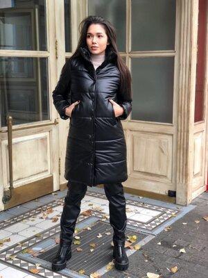 Теплая куртка мягкая эко кожа Размеры 42-44, 46-48, 50-52