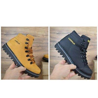 Продано: Мужские стильные кожаные тёплые ботинки два цвета