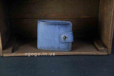 Кожаное синее портмоне