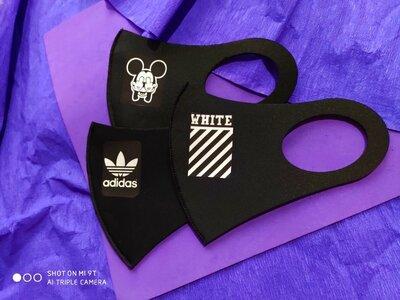 Многоразовая защитная неопреновая маска с логотипом white off