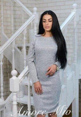 Разные цвета и размеры Распродажа модели.Теплое трикотажное платье .Ангора софт.