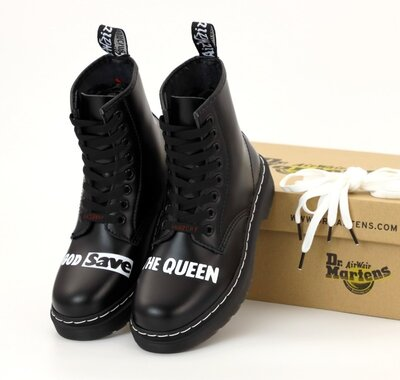 Мужские ботинки Dr. Martens Sex Pistols. God Save the Queen. Демисезон
